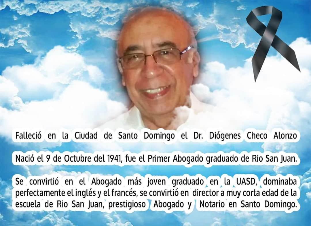 Sentido pesar por la muerte de nuestro Munícipe DR. Diógenes Checo, hermano de nuestro Alcalde Dr. Alan Checo